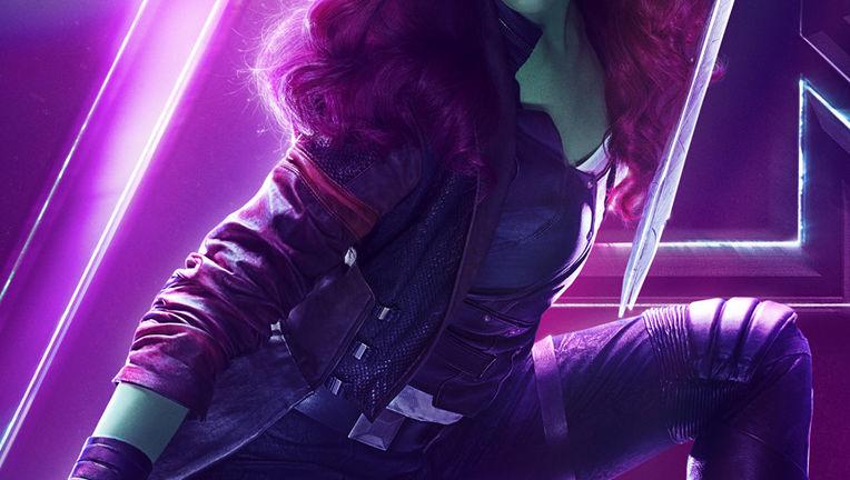 Avengers: Infinity Wars character poster - Zoe Saldana as Gamora