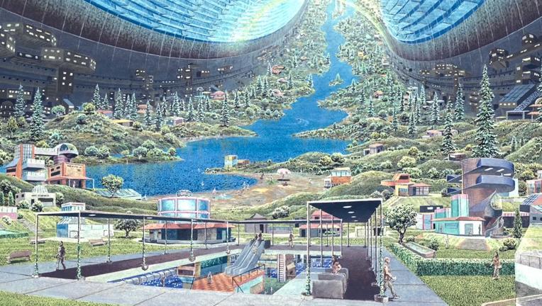 don davis space colony artist depiction