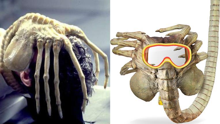 Think Geek Alien Facehugger mask