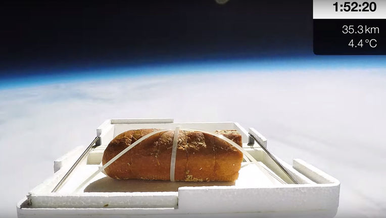 Garlic Bread on the edge of space