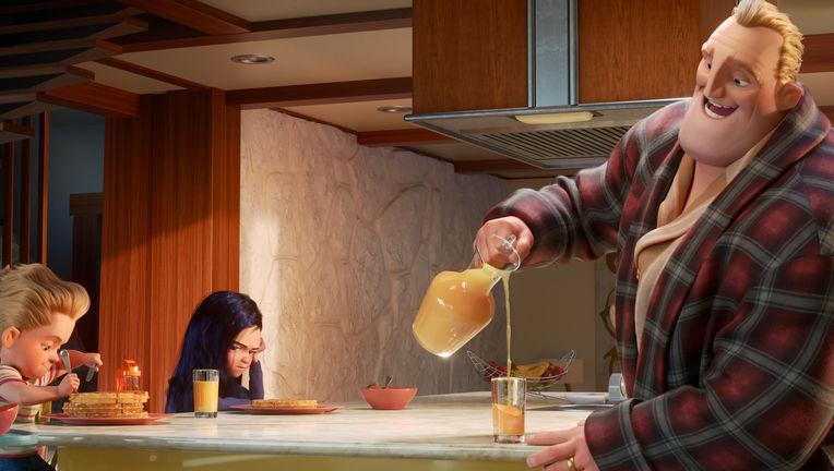 incredibles 2 breakfast scene