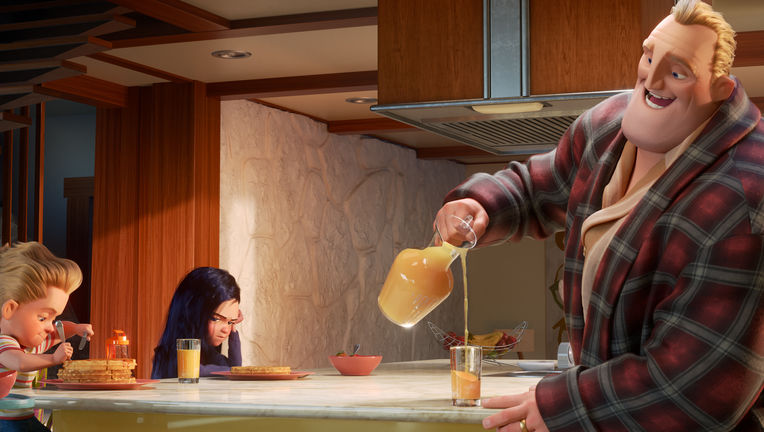 incredibles 2 breakfast scene