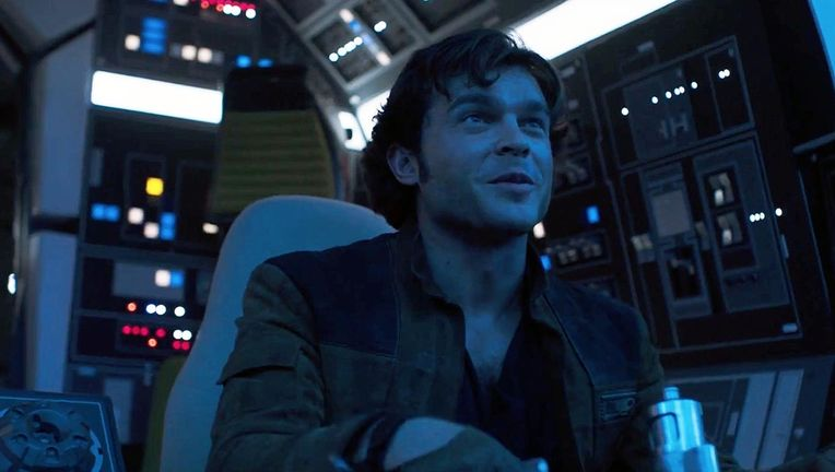 Han Solo in Solo: A Star Wars Story hero