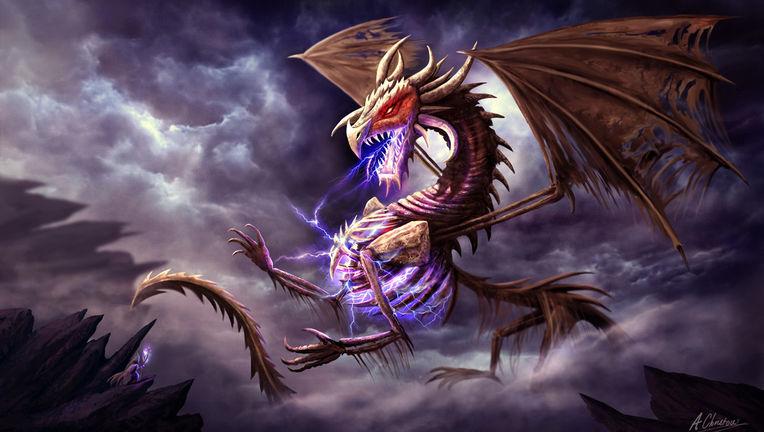 Zerolios the Undead Dragon by Anthony Christou