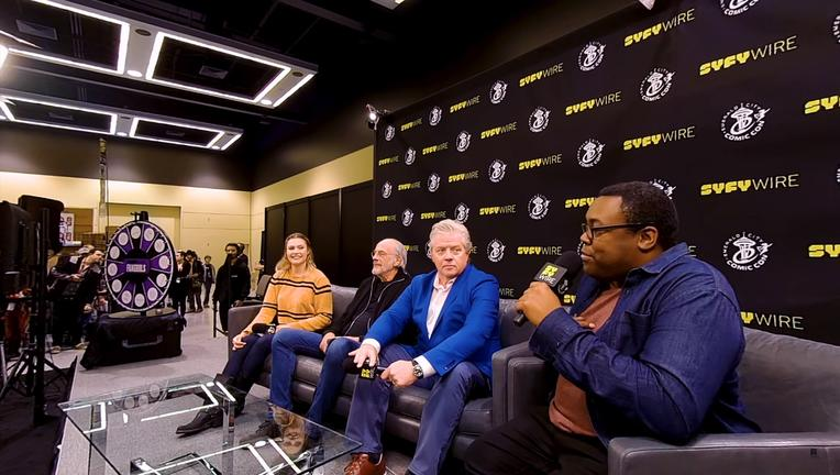 Back to the Future Christopher Lloyd, Tom Wilson SYFY WIRE ECCC 2018 Interview VR 180