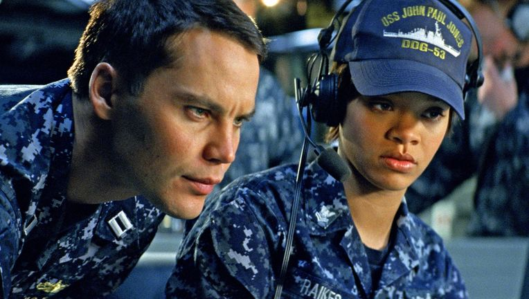 Battleship, Taylor Kitsch and Rihanna