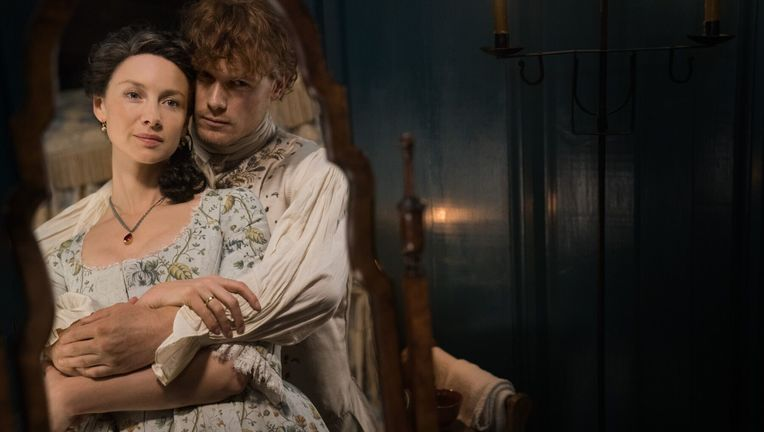 Outlander Season 4- Claire and Jamie (Caitriona Balfe and Sam Heughan)