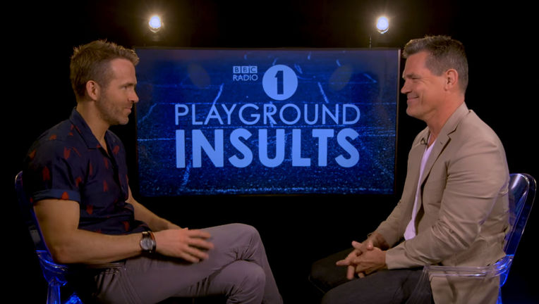 Ryan Reynolds and Josh Brolin on BBC Radio 1