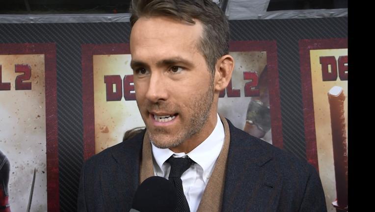 Ryan Reynolds Deadpool 2 Red Carpet SYFY WIRE Screengrab
