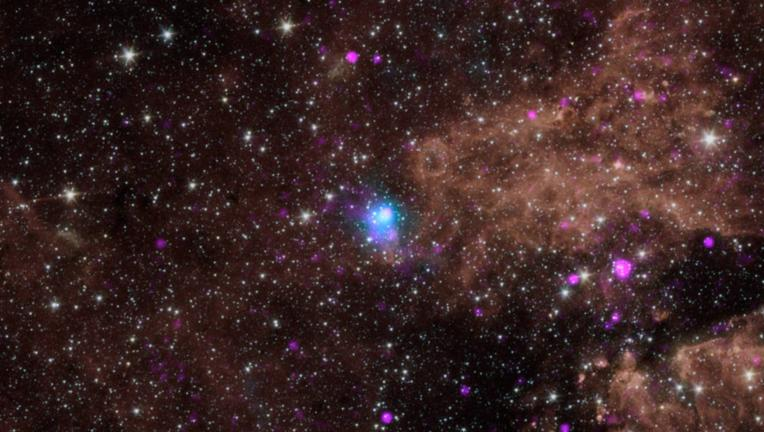 NASA image of a distant galaxy