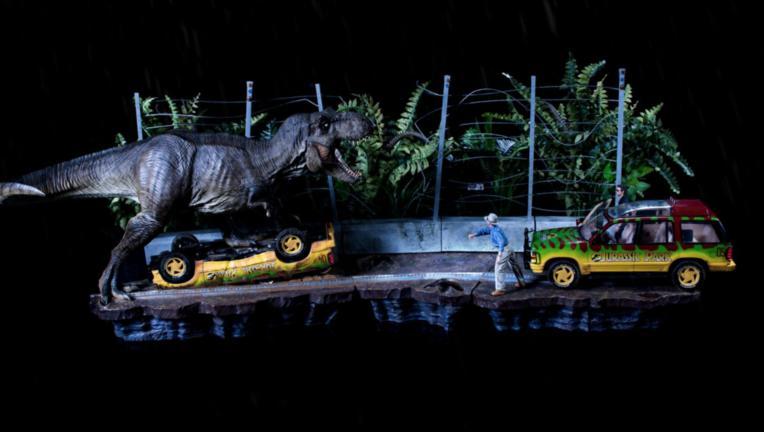 t-rex diorama