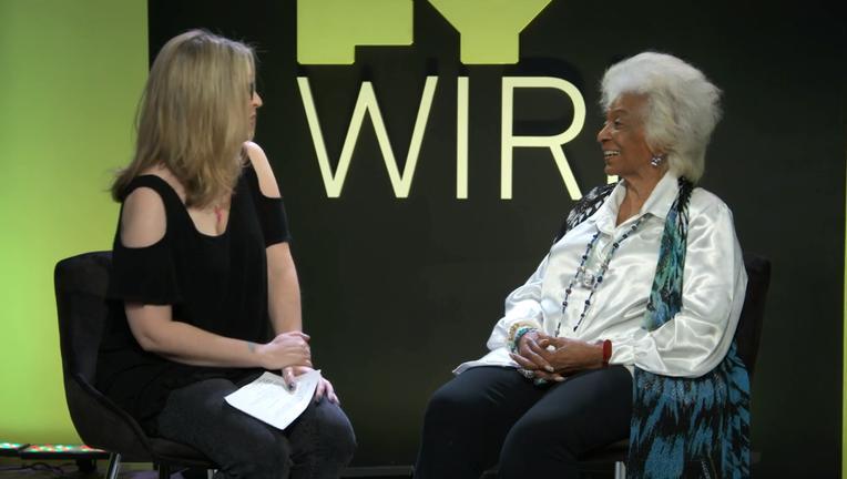 Nichelle Nichols SYFY WIRE Interview Screengrab SDCC 2018