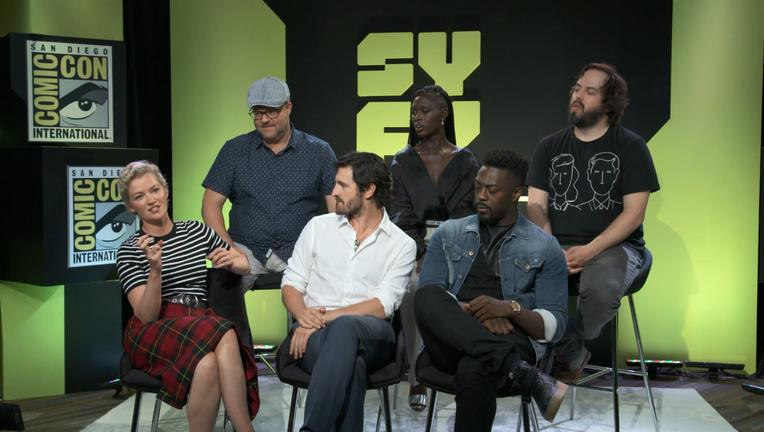 Nightflyers Cast Interview SYFY WIRE Screengrab SDCC 2018