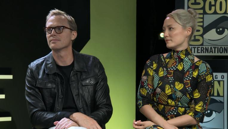 Paul Bettany Pom Klementieff Avengers Infinity War SYFY WIRE Screengrab SDCC 2018