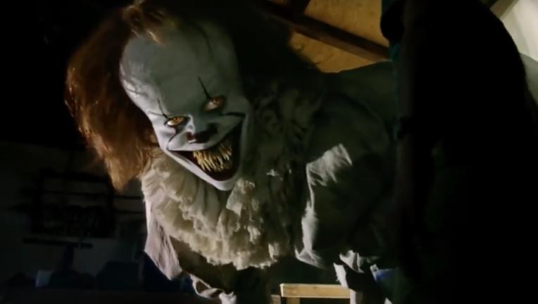 Bill Skarsgard as Pennywise in Stephen King's IT