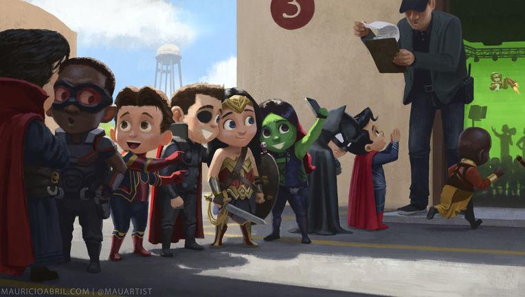 Avengers fan art, Mauricio Abril