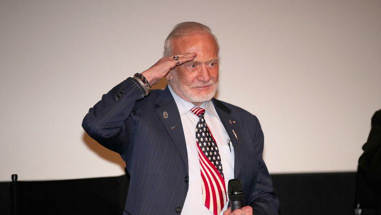 Buzz Aldrin salute