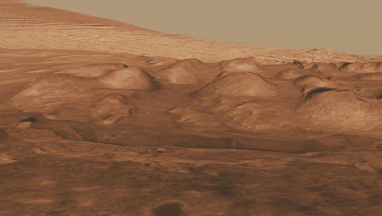 rock layers on Mars