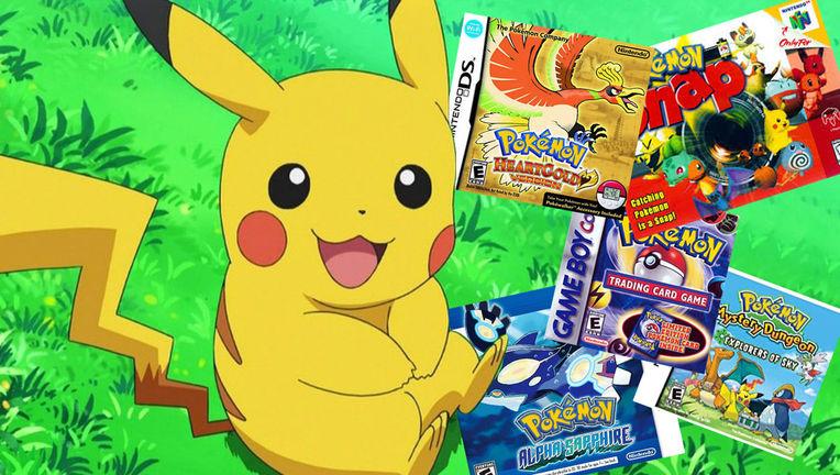 Pikachu, Pokemon games
