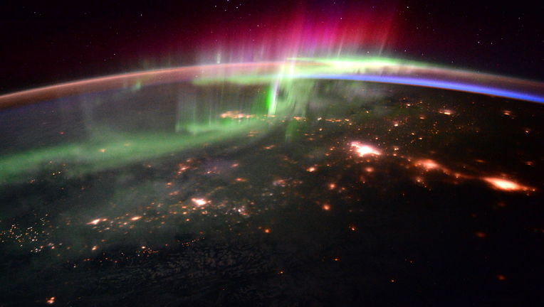 NASA image of an aurora