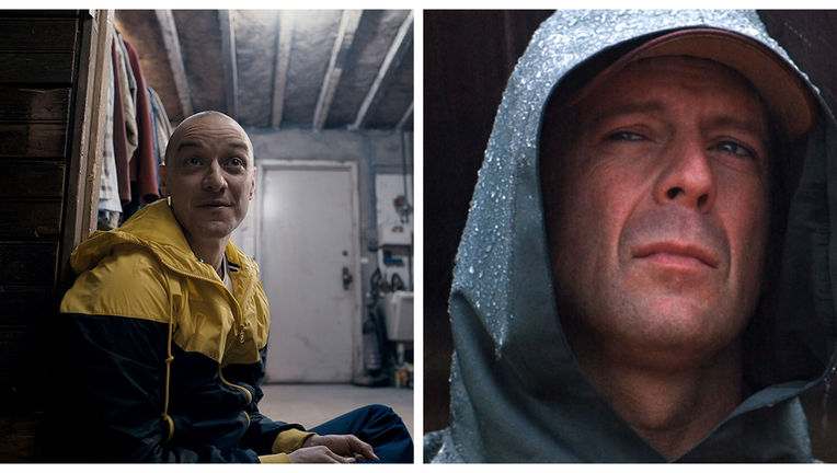 James McAvoy Split - Bruce Willis Unbreakable