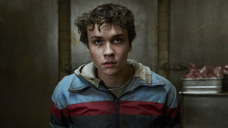 "DEADLY CLASS -- ""Reagan Youth"" Episode 100 -- Pictured: Benjamin Wadsworth as Marcus"