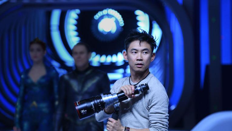 James Wan on the set of Aquaman