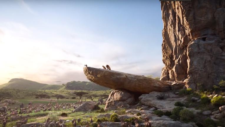 The Lion King live action via YouTube capture 2018