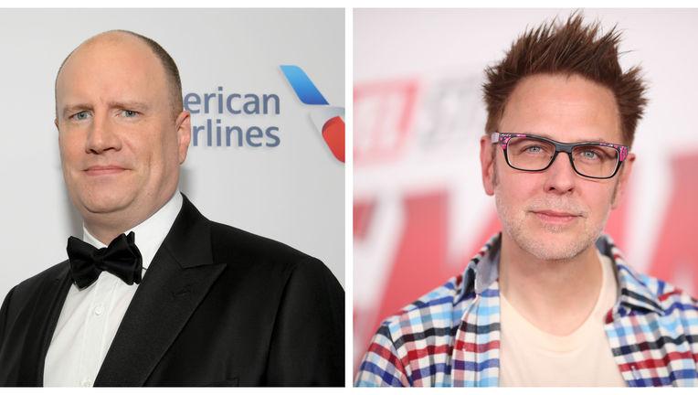 Kevin Feige and James Gunn