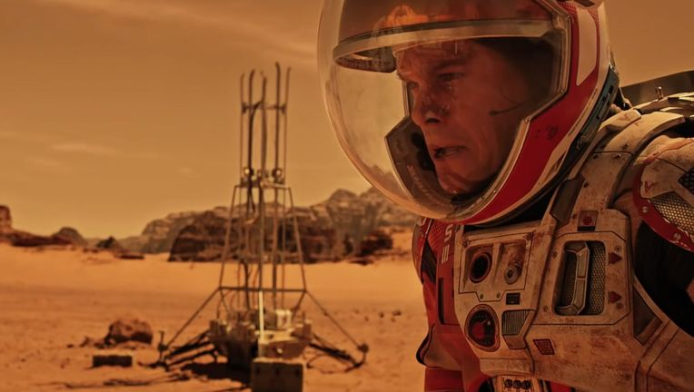 The Martian Matt Damon on Mars