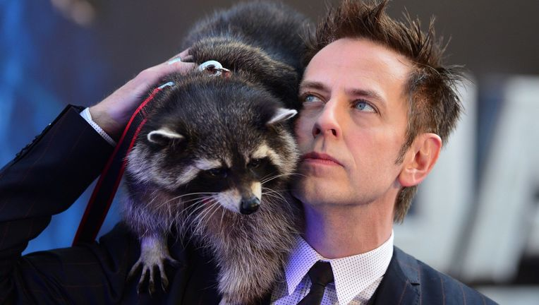 James Gunn and Oreo the Raccoon