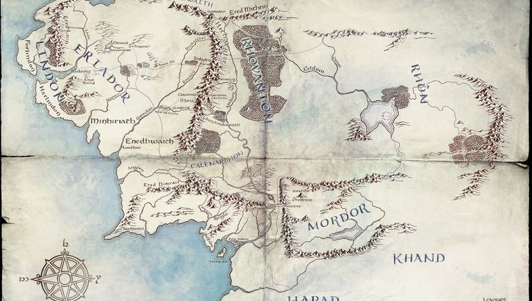 Lord of the Rings amazon map label
