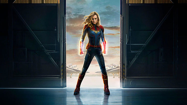Captain Marvel poster via Marvel site 2019
