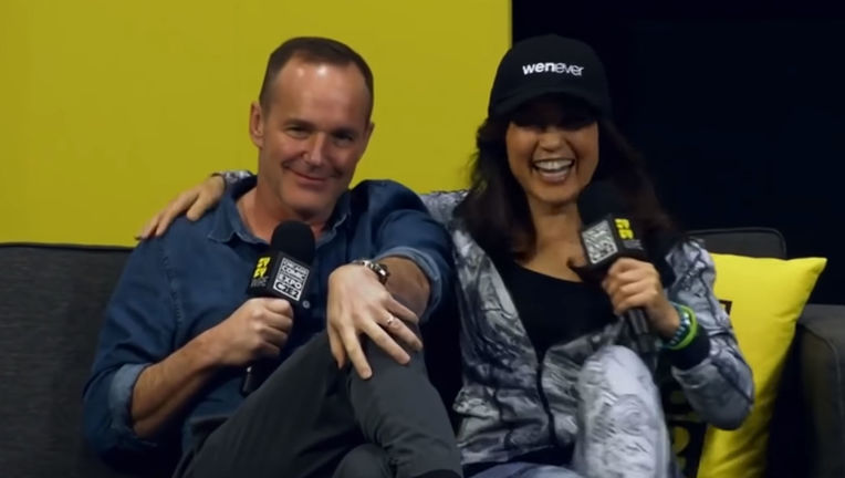 Clark Gregg and Ming-Na C2E2