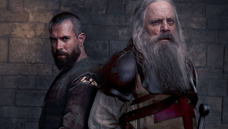 Tom Cullen and Mark Hamill in Knightfall