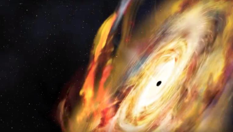 NASA screengrab of black hole