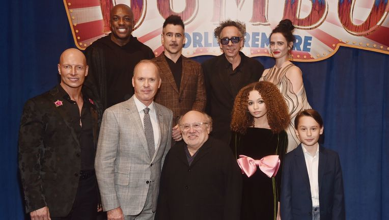 Tim Burton and the Cast of Dumbo