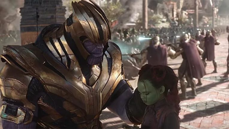 Avengers Infinity War Thanos and Gamora