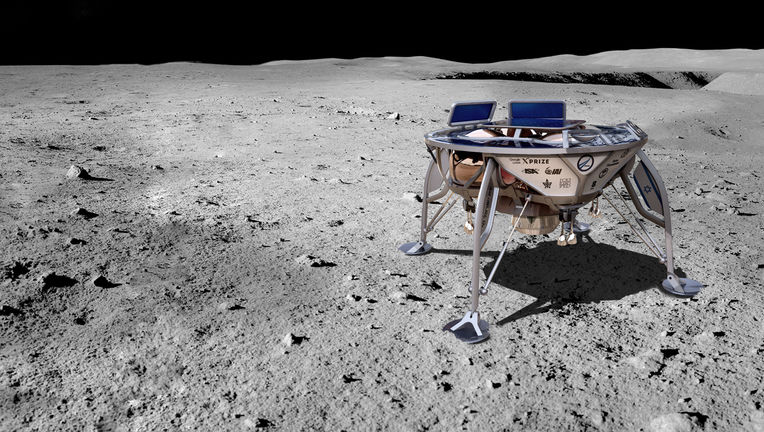 Artwork depicting the Israeli SpaceIL lunar lander Beresheet on the Moon. Credit: SpaceIL