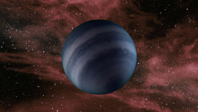 Artist's concept of a lone brown dwarf