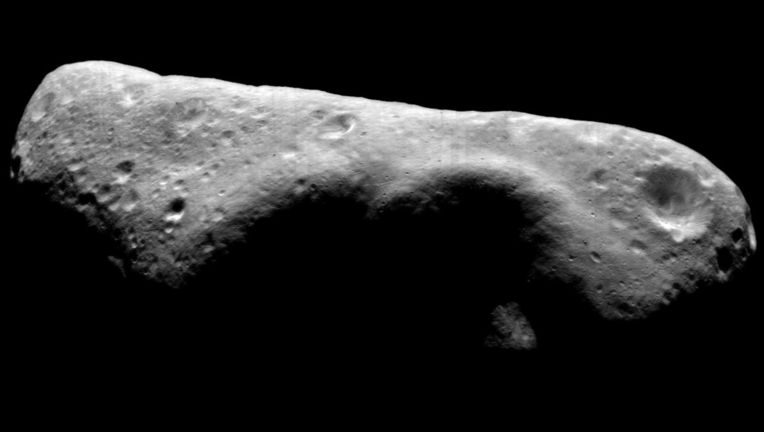 Eros, a lumpy potato of an asteroid, is pretty typical of such solar system objects. Credit: NASA