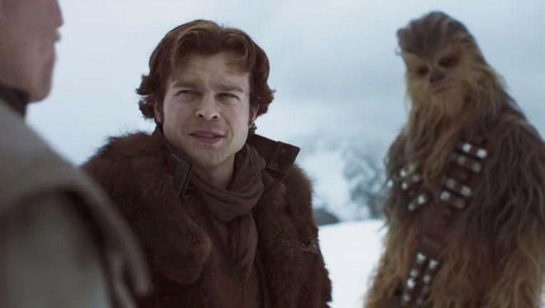 Solo: A Star Wars Story- Han, Chewbacca, and Beckett