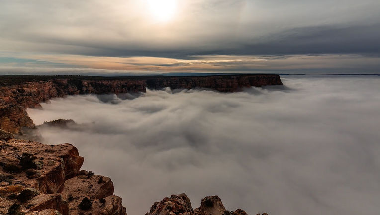 clouds in the Grand Canyon