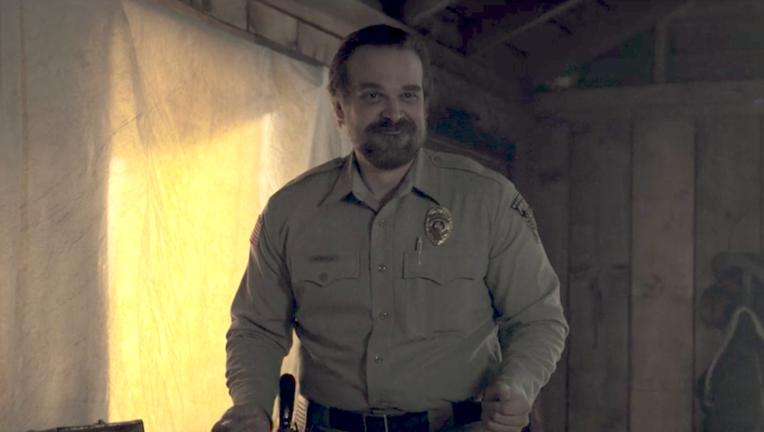 Stranger Things- David Harbour dances as Jim Hopper