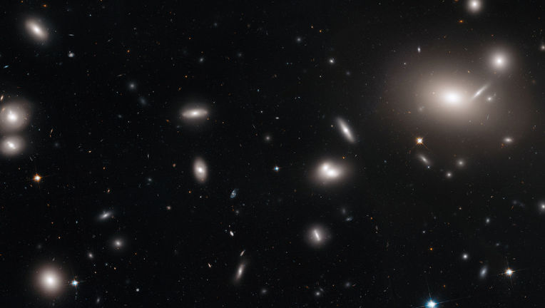 The inner part of the massive Coma galaxy cluster, where thousands of galaxies swarm. Credit: NASA, ESA, J. Mack (STScI), and J. Madrid (Australian Telescope National Facility)