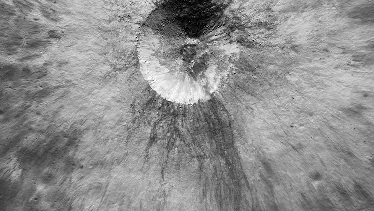 A closer view of an unnamed small crater on the Moon, seen by Lunar Reconnaissance Orbiter in late 2018. NASA/GSFC/Arizona State University