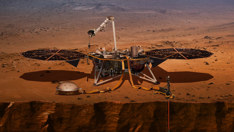The Mars lander InSight will sit on the surface and measure marsquakes, heat transport, and the planet's wobble, all to help us understand the internal structure of the Red Planet. Credit: NASA/JPL-Caltech