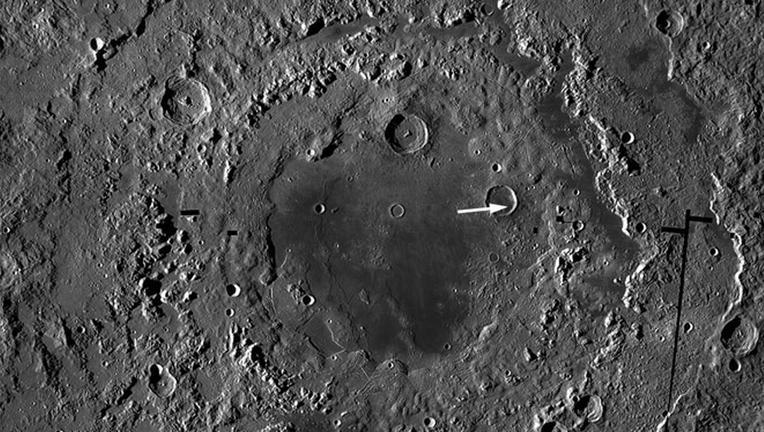 NASA image of the moon's Orientale basin