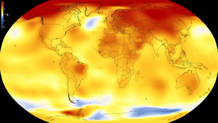 The temperature anomalies (deviations from average; in this case from 1951-1980) in 2017 over the planet. Looking at this, reality is staring you in the face. The Earth is heating up. Credit: NASA's Scientific Visualization Studio/K. Mersmann
