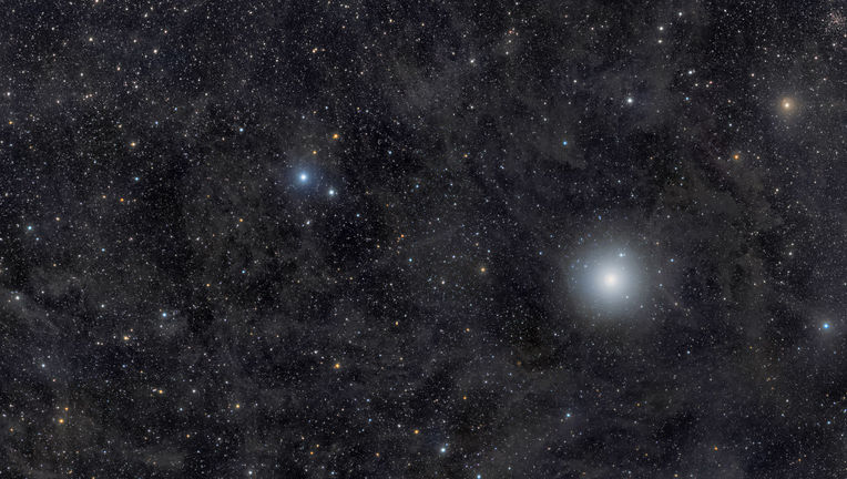 Polaris (the bright star on the right) is an important star historically, both for navigation as well as for astrophysics. Credit: Rogelio Bernal Andreo